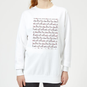 Bicycle Pattern Women's Sweatshirt - White