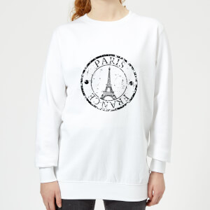 Paris France Women's Sweatshirt - White