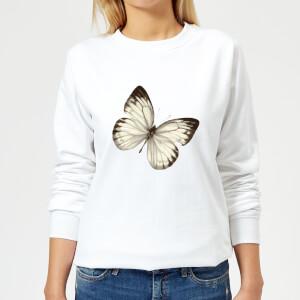 Butterfly 3 Women's Sweatshirt - White