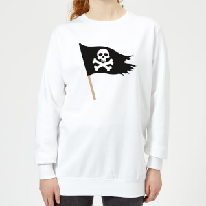 Pirate Flag Women's Sweatshirt - White