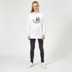 Pirate Ship Women's Sweatshirt - White