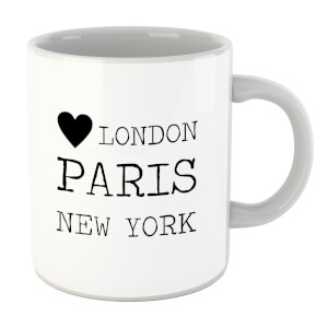 Love Heart London Paris New York Mug