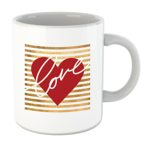 Heart Love Scribble Striped Background Mug