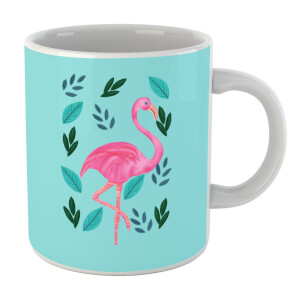 Flamingo And Leaves Mug