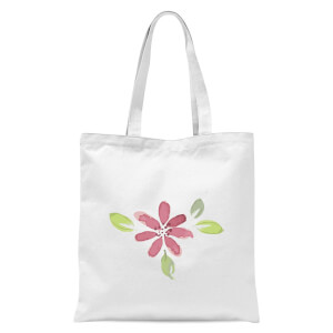 Pink Flower 1 Tote Bag - White