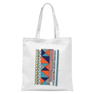 Abstract Pattern Tote Bag - White