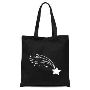 Shooting Star Tote Bag - Black
