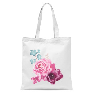 Bunch Of Flowers 2 Tote Bag - White