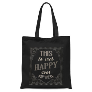 This Is Our Happy Ever After Tote Bag - Black
