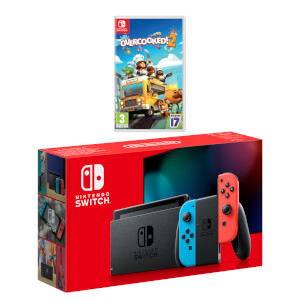 Nintendo Switch (Neon Blue/Neon Red) Overcooked! 2 Pack
