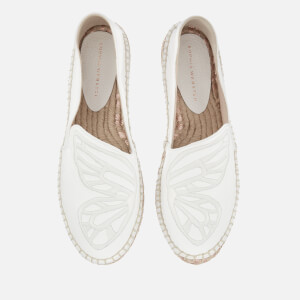 Sophia Webster Women's Butterfly Espadrilles - White