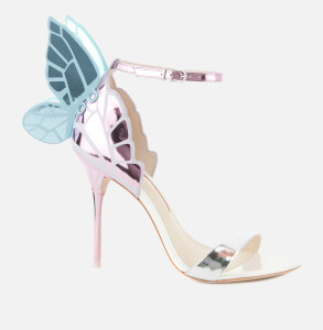 Sophia Webster Women's Chiara Barely There Heeled Sandals - Silver/Multi Pastel
