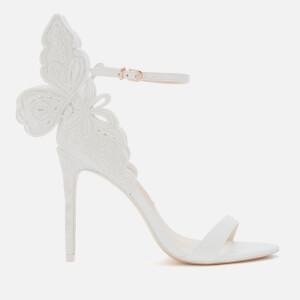 Sophia Webster Women's Chiara Broderie Barely There Heeled Sandals - White