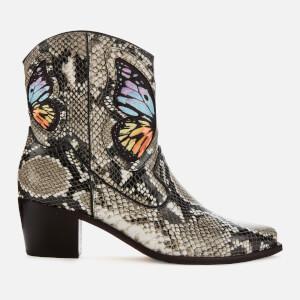 Sophia Webster Women's Shelby Cowboy Boots - Snake Print/Rainbow