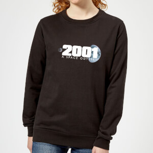 2001: A Space Odyssey 2001 Space Logo Women's Sweatshirt - Black
