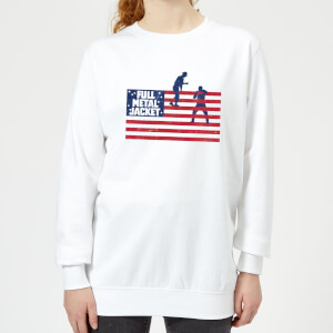 Full Metal Jacket American Stripes Women's Sweatshirt - White