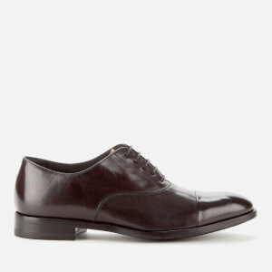 Paul Smith Men's Brent Leather Toe Cap Oxford Shoes - Dark Brown