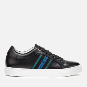 Paul Smith Men's Basso Leather Cupsole Trainers - Black Stripe