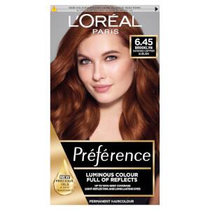 L'Oréal Paris Préférence 6.45 Brooklyn Copper Auburn Permanent Hair Dye
