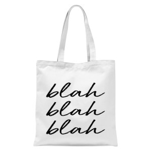Blah Blah Blah Tote Bag - White