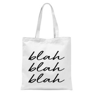 Blah Blah Blah Tote Bag - White
