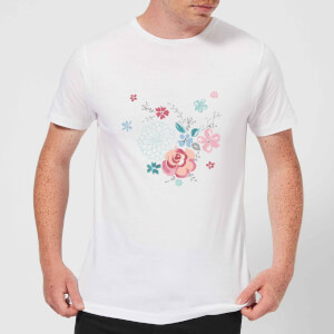 Candlelight Water Colour Flower Bouquet Men's T-Shirt - White