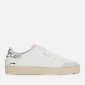 Axel Arigato Women's Clean 90 Triple Glitter Leather Cupsole Trainers - White/Silver/Pink