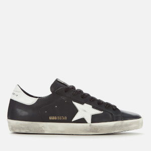 Golden Goose Deluxe Brand Men's Superstar Leather Trainers - Black/White Star