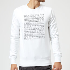 Candlelight Winter Pattern Sweatshirt - White