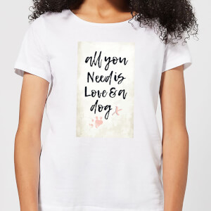 Candlelight All You Need Is Love And A Dog Women's T-Shirt - White