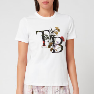 Ted Baker Women's Aymelia Highland Logo Short Sleeve Tshirt - White