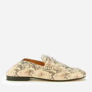 Isabel Marant Women's Fezzy Leather Python Printed Loafers - Nude