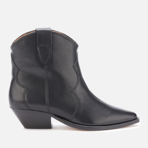 Isabel Marant Women's Dewina Leather Western Style Ankle Boots - Black