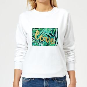 Candlelight Jungle Bush Golden Love Women's Sweatshirt - White