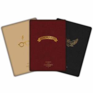 Harry Potter A6 Notebooks 3 Pack (Hogwarts Design)