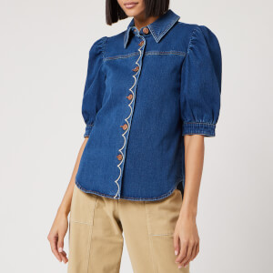 See By Chloé Women's Denim Shirt - Blue