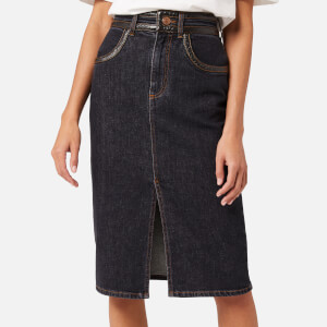 See By Chloé Women's Denim Skirt - Black