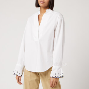 See By Chloé Women's Spots Cuff Detail Shirt - White