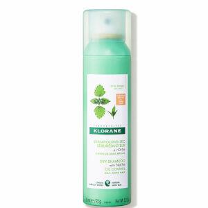 KLORANE Champú seco purificante con ortiga para cabellos castaños-oscuros grasos 150ml