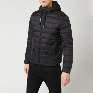 Armani Exchange Men's Padded Hooded Jacket - Black/Grey