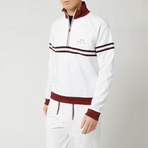 Armani Exchange Men's Half Zip Top - White