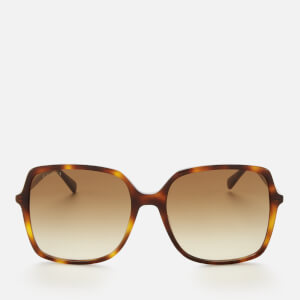 Gucci Women's Oversized Square Frame Acetate Sunglasses - Havana