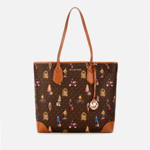 MICHAEL MICHAEL KORS Women's Eva Large Tote Bag - Brown Multi