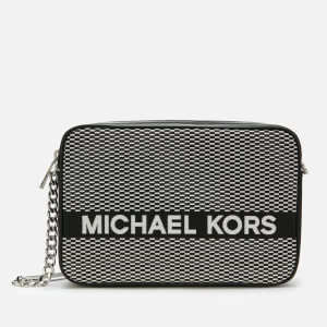 MICHAEL MICHAEL KORS Women's Jet Set Large Eastwest Cross Body Bag - Blk/Opticwht