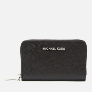 MICHAEL MICHAEL KORS Women's Jet Set Small Zip Around Card Case - Black