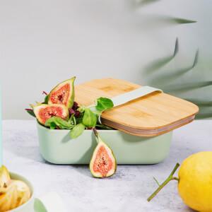 Sass & Belle Mint Green Bamboo Lunch Box