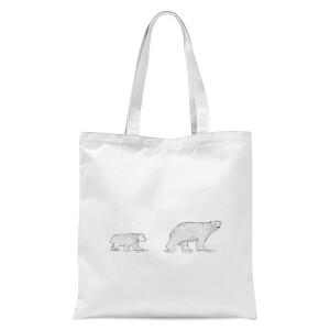 Mum And Cub Polar Bear Tote Bag - White