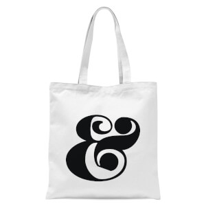 & Symbol Tote Bag - White