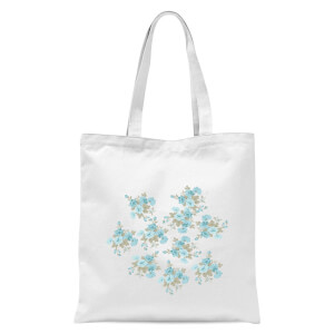 Flower Bouquet Burst Tote Bag - White