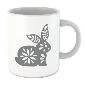 Folk Silhouette Rabbit Cutout Mug